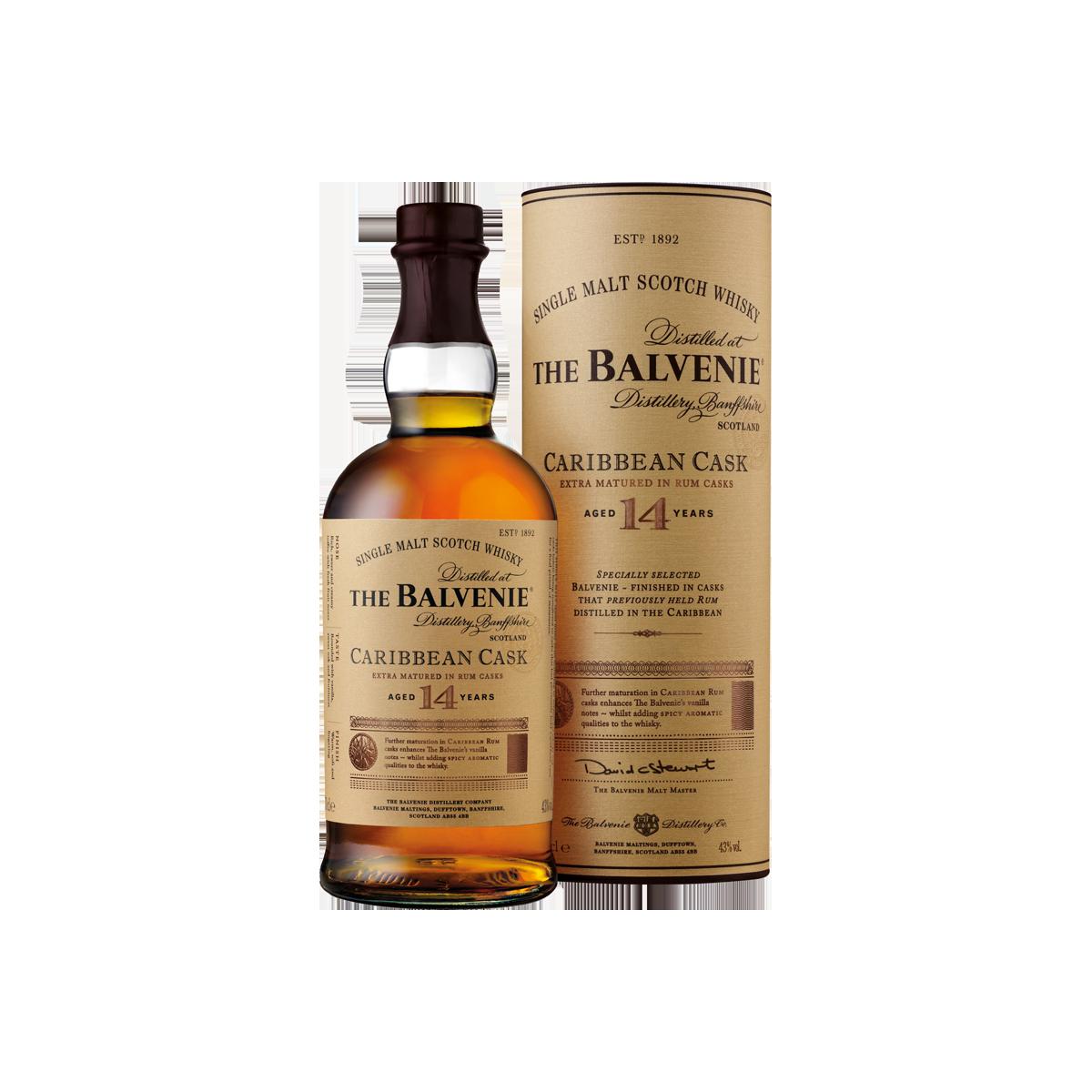 Balvenie Carribean cask 14 ans Whisky 43 %