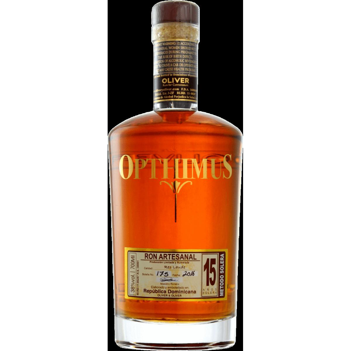 Opthimus 15 ans Rhum 38%
